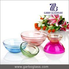 Decorative Colored Glass Bowls 7Pcs Golden Color Glass Fruit Bowl Set And Glassware Set Wholesale