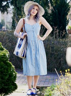 Dress Denim Stripes - Like a Riot - pepaloves.com