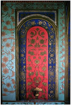 badesaba: Wall painting from the Golestan Palace - Qajar period