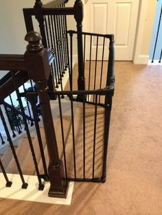 The Semi Crunchy Mom: Gate for double banister steps