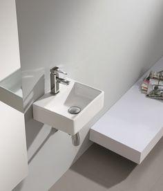 כיור שרותי אורחים רונדה 29/33 Toilet Room, Small Bathroom, Bathroom Ideas, Sink, Display, Design, Home Decor, Products, White Ceramics