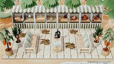 A mini outdoor deep sea aquarium on the beach 🐙 : AnimalCrossing Animal Crossing Wild World, Animal Crossing Guide, Animal Crossing Villagers, Sea Aquarium, Ac New Leaf, Motifs Animal, Animal Games, Island Design, Deep Sea