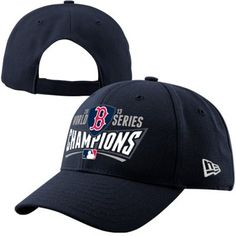 New Era Boston Red Sox 2013 MLB World Series Champions Ladies 9FORTY Adjustable Hat - Navy Blue