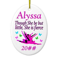 LITTLE BUT FIERCE PERSONALIZED BALLERINA ORNAMENT Beautiful Dancer and Ballerina ornaments to inspire your Dancing Queen! https://www.zazzle.com/collections/dancer_and_ballerina_ornaments-119411195273359204?rf=238246180177746410&CMPN=share_dclit&lang=en&social=true #Dance #Dancer #Ballet #Ballerina