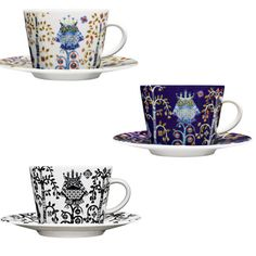 ittala Taika Coffee Cups and Saucers - I adore this designer & these perfect cups.