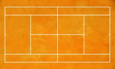 tennis court stock photo