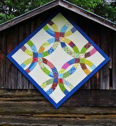 2016~Barn Quilt block for Barn Quilt Trail Rockingham County, NC~Double Wedding Ring Pattern for Dixon Barn