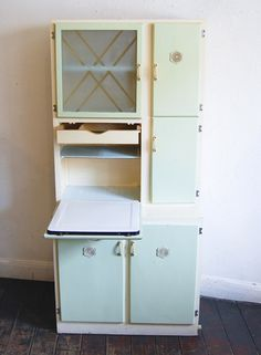 Vintage MidCentury 1950s Kitchenunit Kitchen Cabinet With An Enamel Worktop