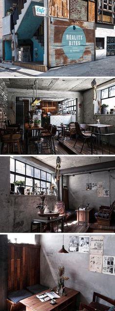 [No.48 리얼리티 바이츠] 홍대 인더스트리얼 빈티지 카페 인테리어 10평