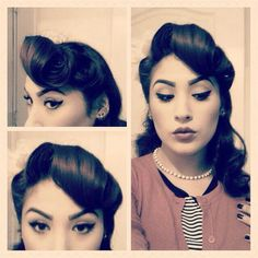 pin up fabulous Fancy Hairstyles, Vintage Hairstyles, Wedding Hairstyles, Simple Hairstyles, Straight Hairstyles, Braided Hairstyles, Pin Up Hair, My Hair, Locks