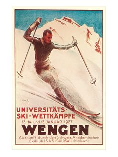 German Ski Poster Art Print at AllPosters.com