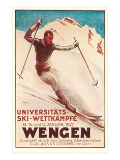 German Ski Poster Art Print at AllPosters.com