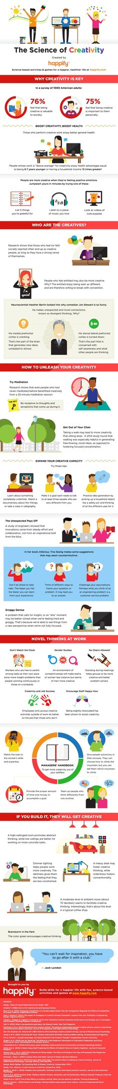 Business infographic : The best ways to tap into your inspiration and spur creativity on your next proj