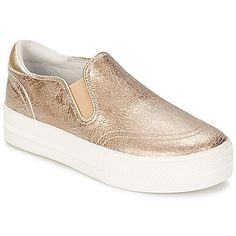 Metallic gold slip on trainers by Ash, perfect for this Spring!