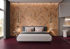 Cork wall panels bedroom inspiration #ecofriendly #insulation #bedroomdecor