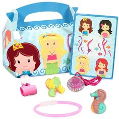 Opentip.com: Birthday Express 206499 Mermaids Party Favor Box