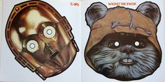 C-3PO and Wicket Ewok Masks Free