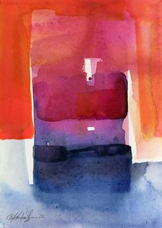 """ARTFINDER: Watercolor Abstraction No. 205 by Kathy Morton Stanion - This piece is from my abstract series """"Watercolor Abstraction"""". This whole series has been selected by the distinguished publishing company Artist Lane!  You..."""