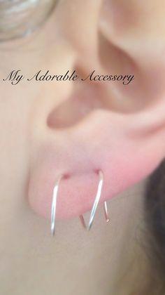 Double Pierced Twist in Earrings by MyAdorableAccessory on Etsy