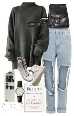 """""""Untitled #9033"""" by nikka-phillips ❤ liked on Polyvore featuring WearAll, Ray-Ban and FOSSIL"""