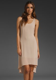 LUCCA COUTURE Sheer Dress w/ Slip in Nude at Revolve Clothing - Free Shipping!