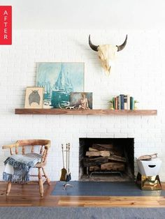 Before & After:  10 Dramatic Fireplace Makeovers