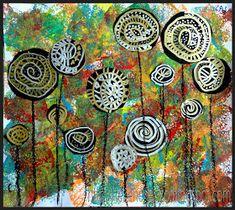 Tekenen en zo: Lollybomen, in de stijl van Hundertwasser