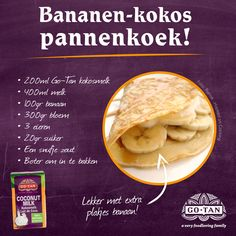 Yummie! Bananen - kokos pannenkoek recept