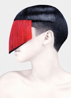Hair styled by Guido Palau; Photographed by Fabien Baron; 2011. Featured in book; new work will be presented in exhibition.