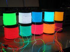 E Textiles, Smart Textiles, Futuristic Technology, Wearable Technology, Technology Gadgets, Electroluminescent Wire, Deco Led, Silvester Party, Neon Party