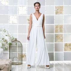 Gio Rodrigues Emi Wedding Jumpsuit beautifull wedding jumpsuit draped pleats crepe  engaged inspiration unique gorgeous elegant bride