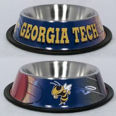 Georgia Tech Yellow Jackets Stainless Steel NCAA Dog Bowl