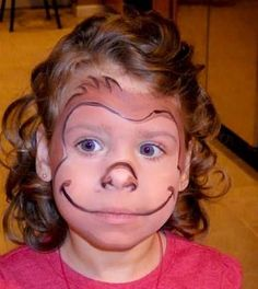 monkey face paint - Google Search                                                                                                                                                                                 More