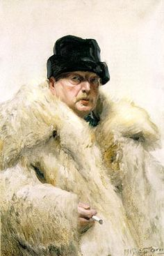 Zorn, Anders - Self-portrait in a Wolfskin #master, #abstract, #painting, #design, #composition, #artwork