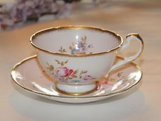 Vintage Paragon Soft pink with flowers Tea Cup  Bone China England