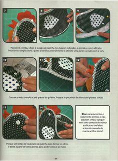Moldes Para Artesanato em Tecido: Pega Panela com molde 3/4