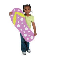 DIY Giant Flip Flops - OrientalTrading.com