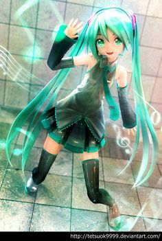 Hatsune Miku - I love this MMD model of her!