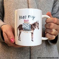 Donkey Mug by Evelyn Henson I don't even like coffee. Cute Mugs, Funny Mugs, Pretty Mugs, It's Funny, Coffee Cups, Tea Cups, Coffee Talk, Coffee Coffee, Morning Coffee