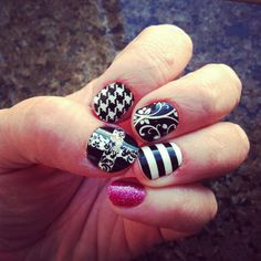 6 different Jamberry Styles...order from me at: www.melissahenderson.jamberrynails.net