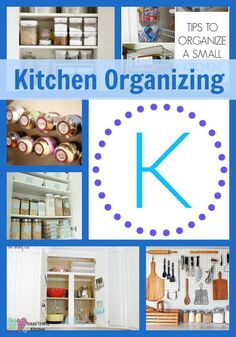 Great ideas for getting that kitchen organized! Texas Crafty Kitchen