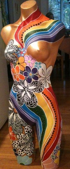 painted mannequin art project - Google Search
