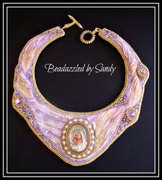 Madonna and Child: A Bead Embroidered Collar от beadazzledbysandy
