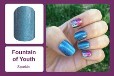 Shades of blue can be stared at for hours in this sparkle wrap. #bevsjamminnails https://bkimball.jamberry.com/us/en/shop/products/fountain-of-youth#.Vxej9PkrJQI