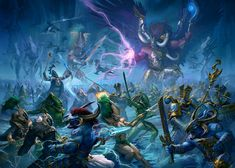""" ""Eldar battle the Thousand Sons "" I see Magnus ain't as lazy as the rest of the chaos primarchs lol,i thought Angron or Fulgrim might be more active in the last ten. Warhammer Fantasy, Warhammer 40k Art, Space Marine, Photo Wallpaper, Hd Wallpaper, Wallpapers, Thousand Sons, The Horus Heresy, Music Drawings"