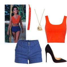 Mary Ann from Gilligan's Island Halloween 2020, Halloween Costumes, Halloween Ideas, Blue Dresses, Short Dresses, Christian Louboutin, Fashion Dresses, Dress Up, Island