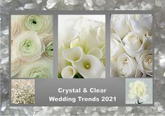 Crystal and clear: According to the fashion industry this will be one of the colors for weddings in 2021. Enjoy! Want to know more about wedding planning... Visit our website - www.ectaint.com Wedding Trends, Industrial Style, Wedding Colors, Wedding Planning, Weddings, Website, Crystals, Fashion, Moda