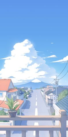 Anime Backgrounds Wallpapers, Anime Scenery Wallpaper, Cute Anime Wallpaper, Aesthetic Pastel Wallpaper, Cute Cartoon Wallpapers, Aesthetic Backgrounds, Aesthetic Wallpapers, Sky Aesthetic, Aesthetic Anime