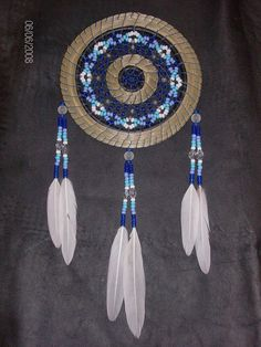 beaded dream catcher with sweetgrass