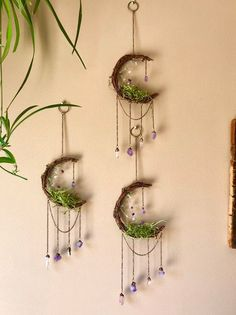 Your place to buy and sell all things handmade - Crescent Moon Dreamcatcher Moon Dreamcatcher, Deco Restaurant, Diy And Crafts, Arts And Crafts, Moon Decor, Creation Deco, Deco Floral, Crystal Decor, Green Aventurine